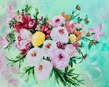 Giselle Denis Fine Art - Flower Arrangements Paintings