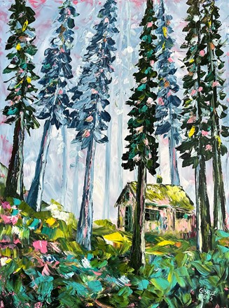 Painting by Giselle Denis Canadian fine artist of